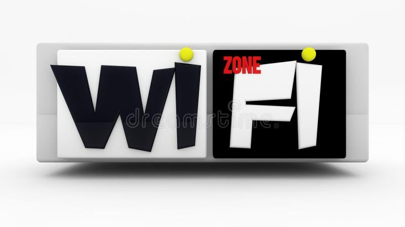 WiFi-tekenstreek vector illustratie