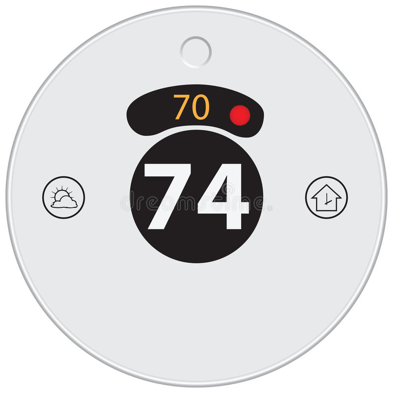 Wifi termostat vektor illustrationer