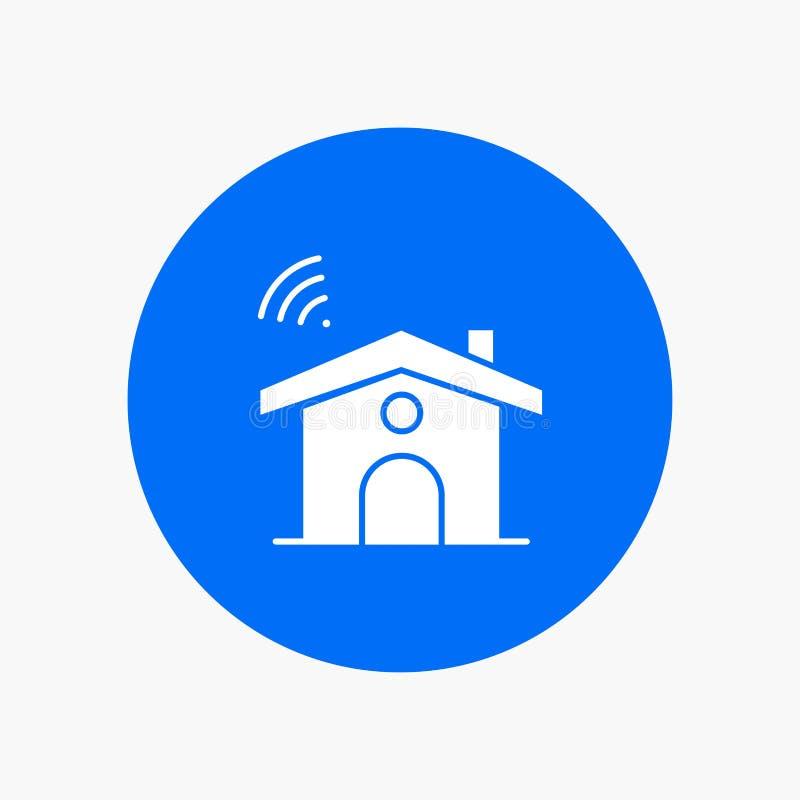 Wifi, usługa, sygnał, dom royalty ilustracja
