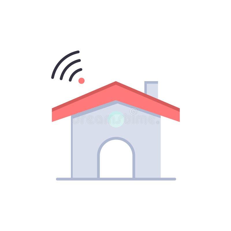 Wifi, usługa, sygnał, Domowa Płaska kolor ikona Wektorowy ikona sztandaru szablon ilustracji