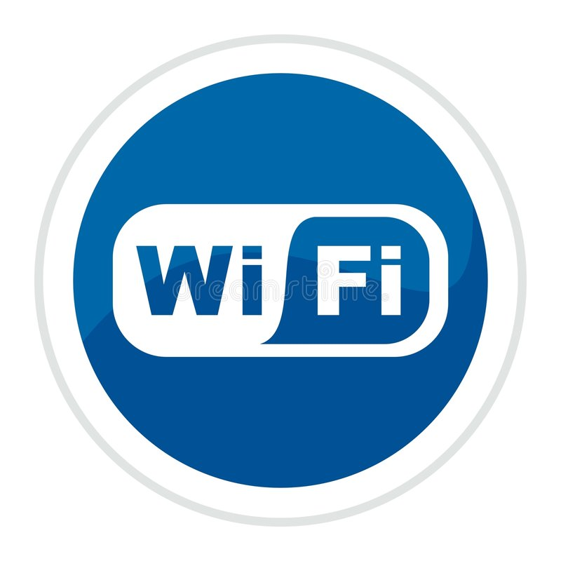 Free Wifi Web Button Royalty Free Stock Photography - 8598377
