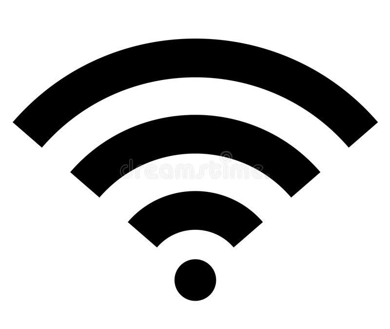 Wifi wireless internet signal flat icon royalty free illustration