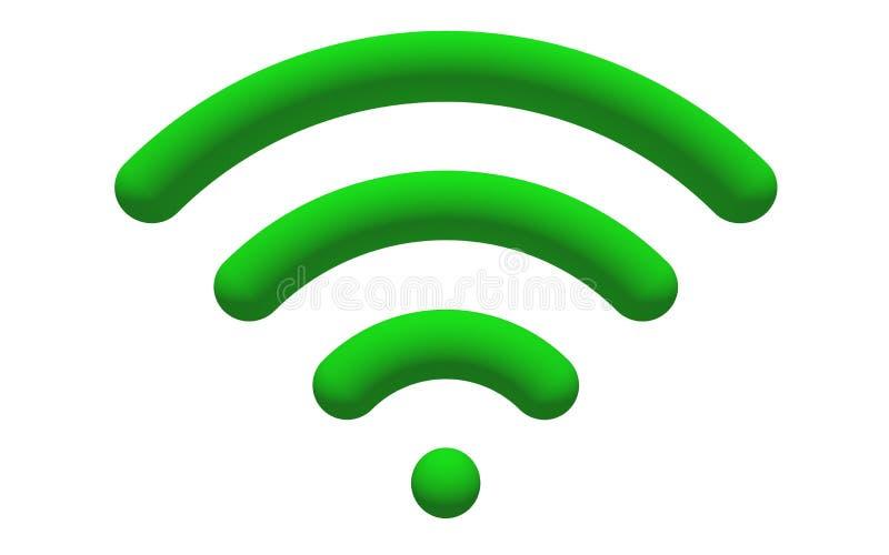 WiFi Zeichen stock abbildung