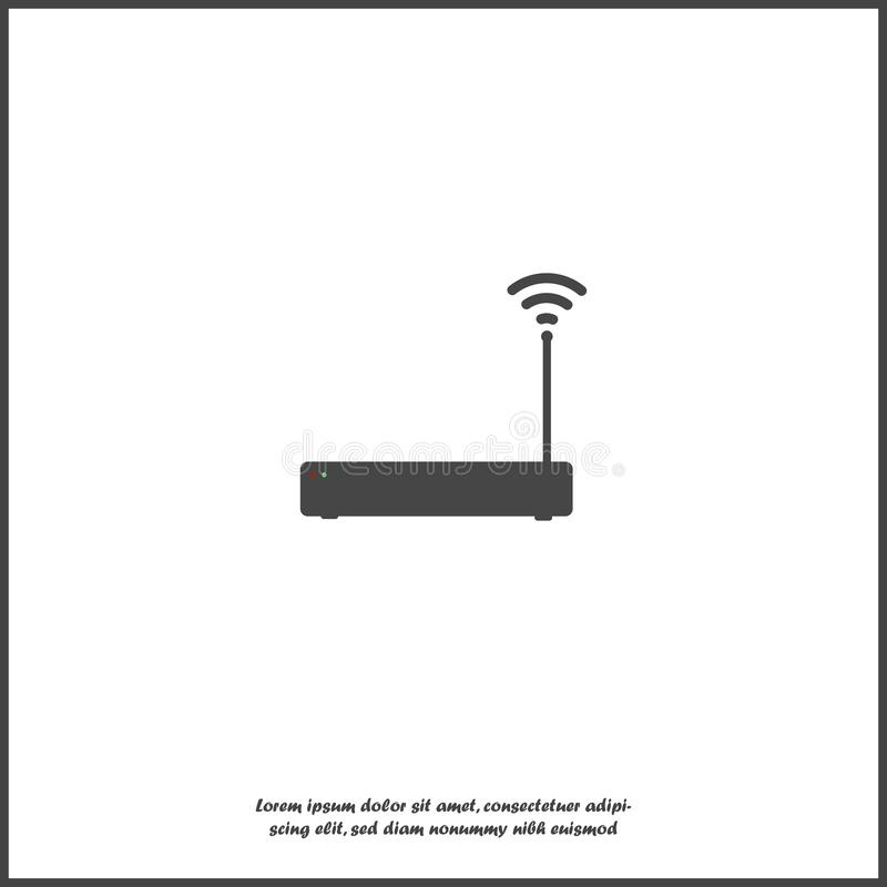 WiFi-zender vectorpictogram op transparante achtergrond WiFi-embleemillustratie op wit geïsoleerde achtergrond vector illustratie
