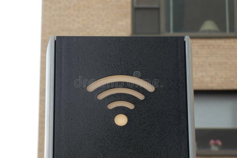 Wifi znak zdjęcia stock