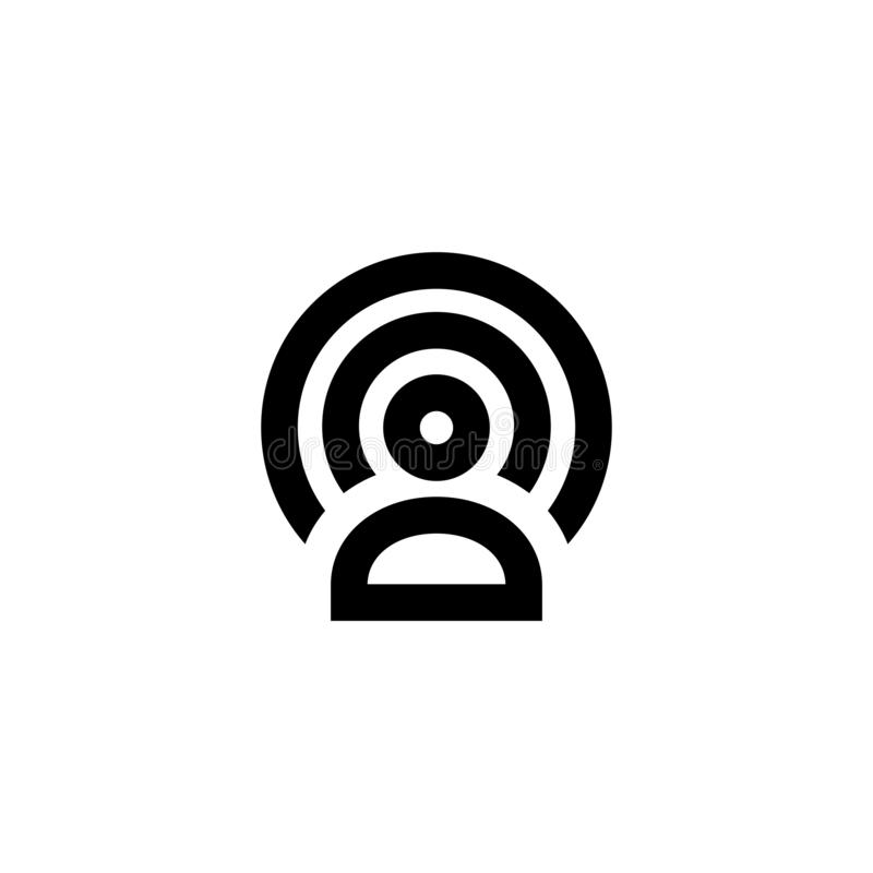 Wifi zone icon. Wireless connection sign stock illustration