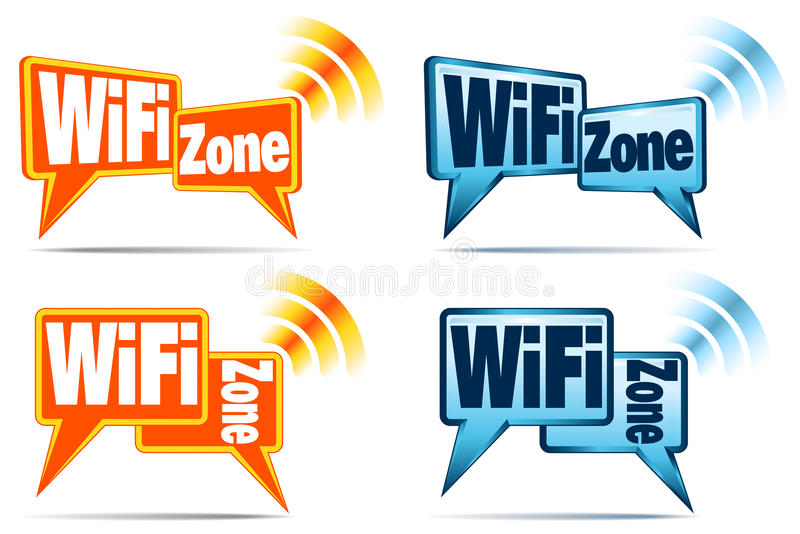 Download WiFi Zone Icons stock vector. Image of mobile, signal - 25863360