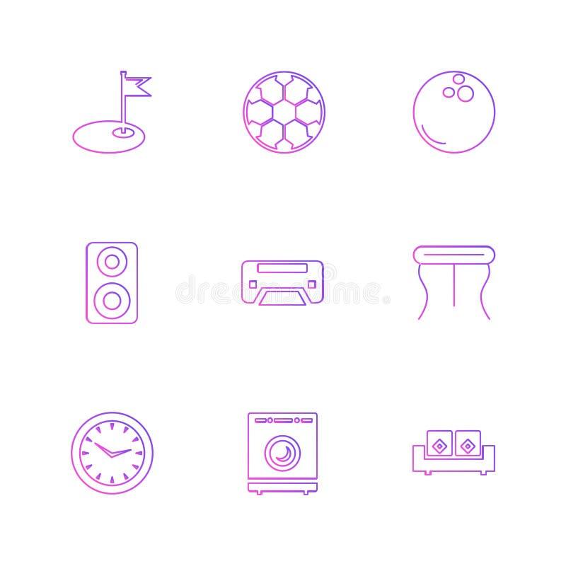 wifien infrared, hushållet, elektronik, eps-symboler ställde in vecto royaltyfri illustrationer