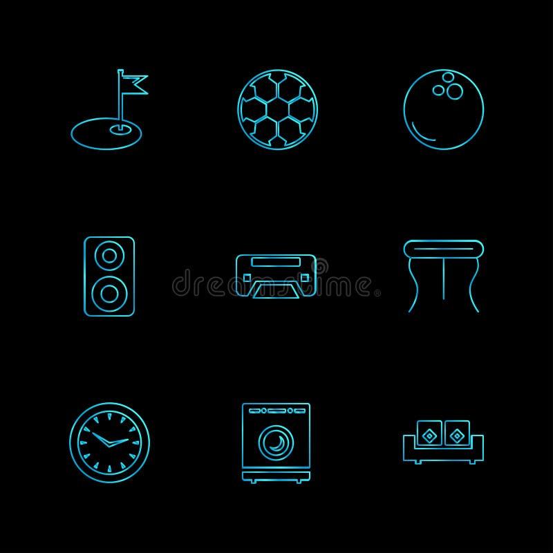 wifien infrared, hushållet, elektronik, eps-symboler ställde in vecto vektor illustrationer