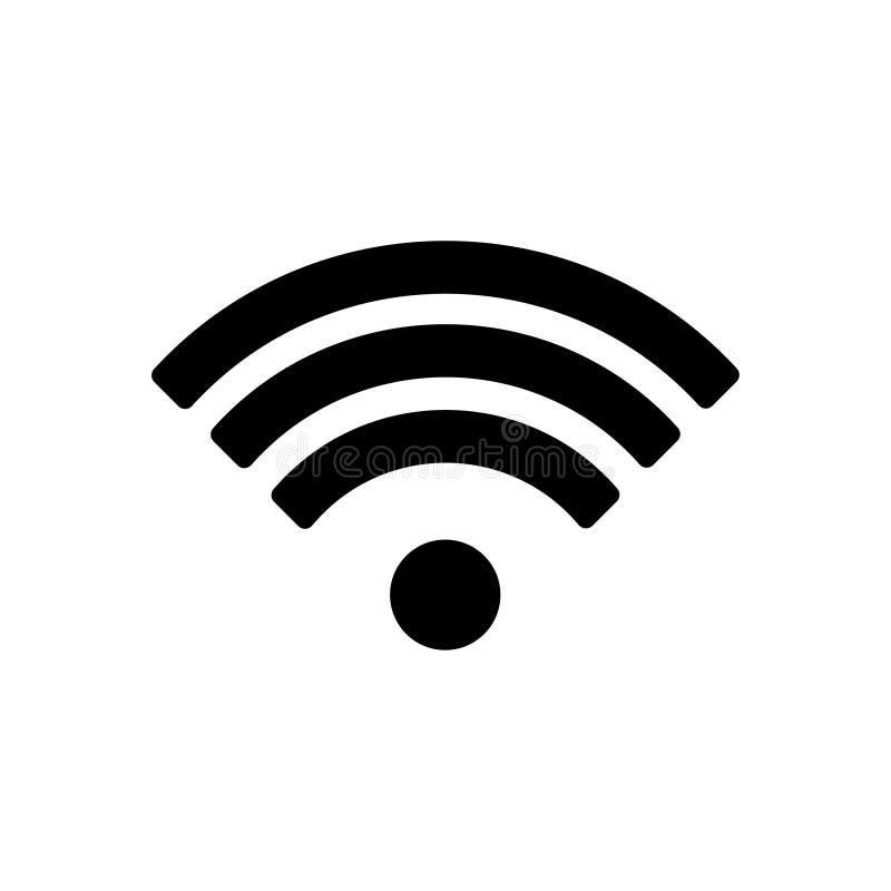 Wifipictogram, de vector van het wifipictogram op witte achtergrond wordt geïsoleerd die het beeld van het wifipictogram, de illu royalty-vrije illustratie