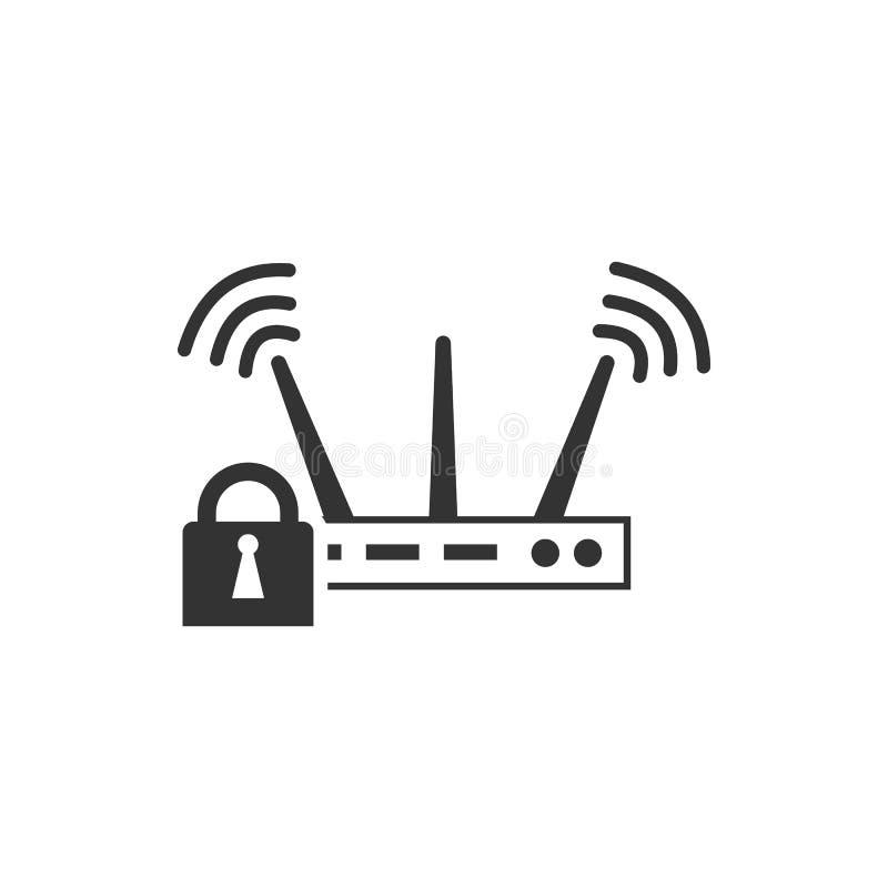 Wifislot, veiligheids vectorpictogram Veiligheids vectorpictogram vector illustratie