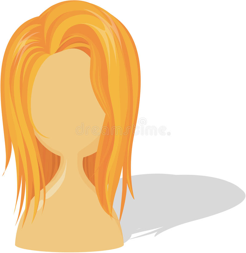 Download Wig stock vector. Image of background, image, femine - 16754213