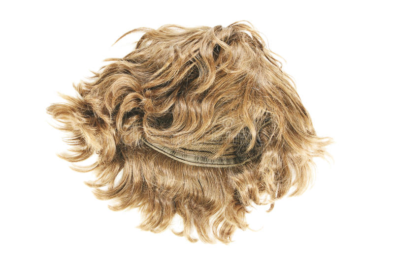 Wig on white stock photography