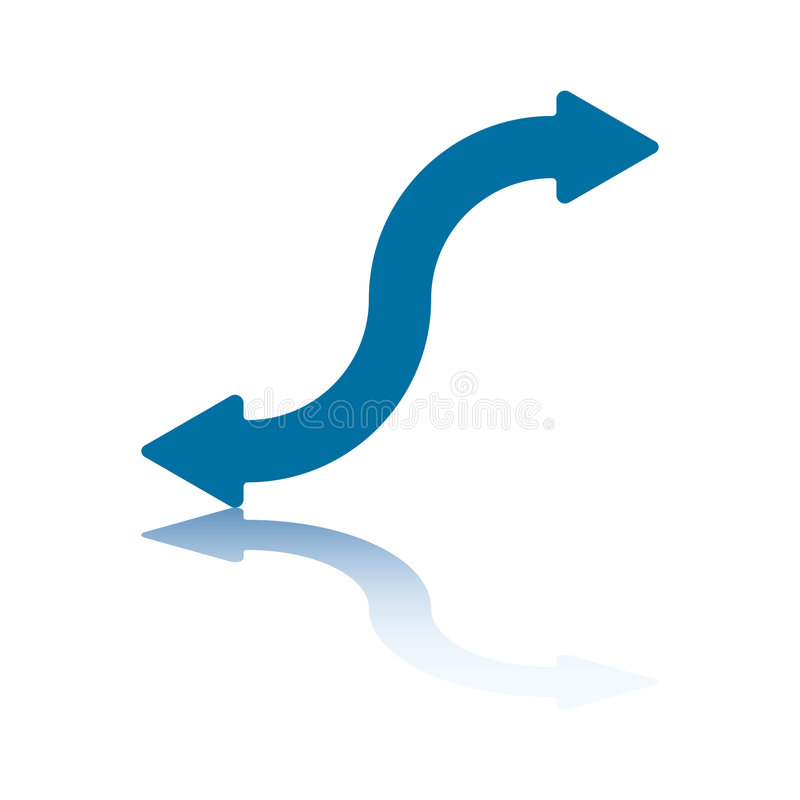 Wiggly Arrow Stock Images