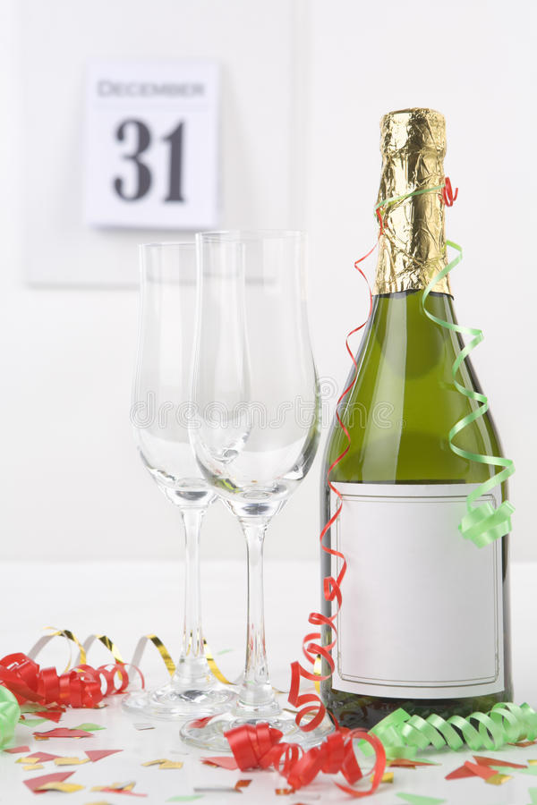wigilia szampański nowy rok fotografia stock
