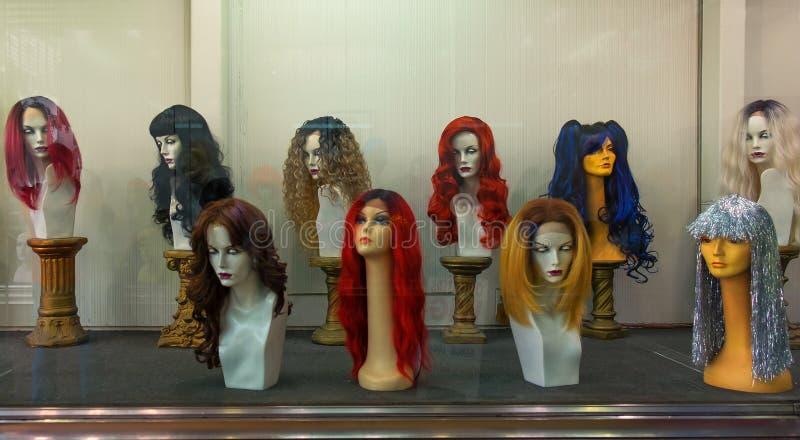 California-Hollywood Wig Shop stock photo