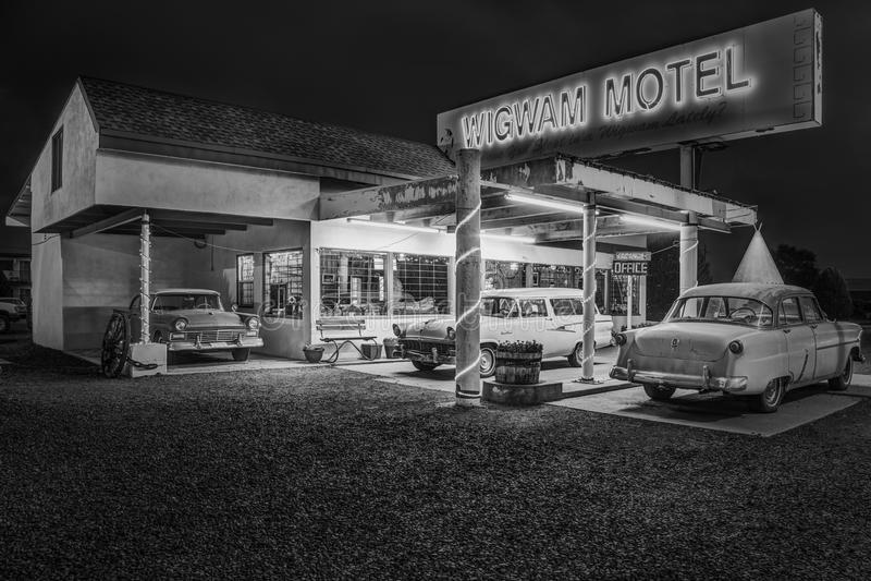 Wigwam Motel on Historic Route 66 in Holbrook, Arizona USA stock image