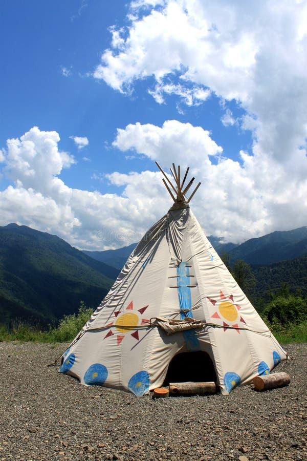 Wigwam w górach zdjęcia royalty free