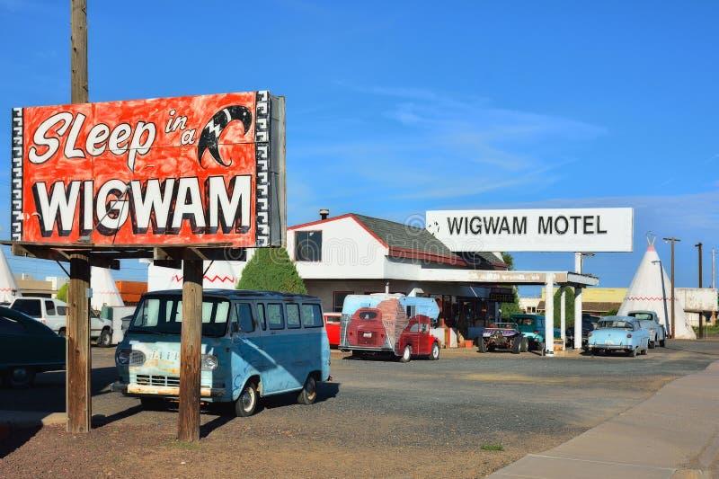 Wigwammotel op historische route 66 royalty-vrije stock afbeeldingen
