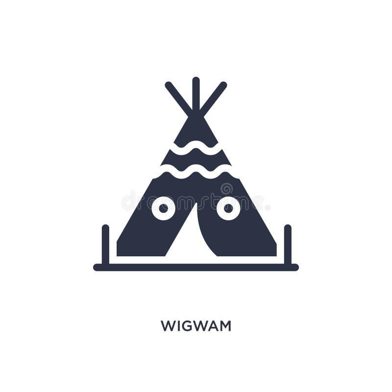 wigwampictogram op witte achtergrond Eenvoudige elementenillustratie van woestijnconcept stock illustratie