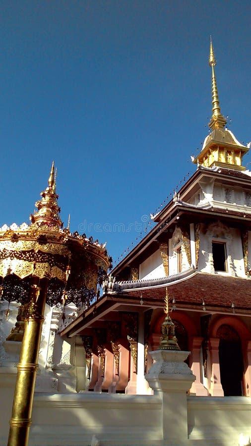 Wihan and Golden Umbrella royalty free stock photography