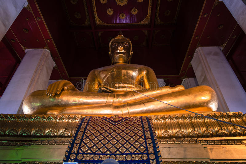 Wihan Phra Mongkhon Bophit寺庙 免版税库存图片