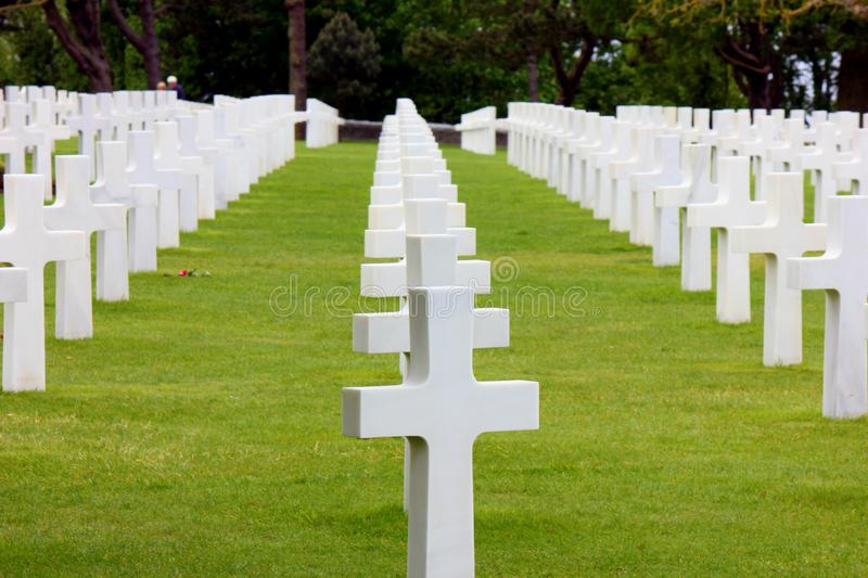 American cemetery in normandy stock photos