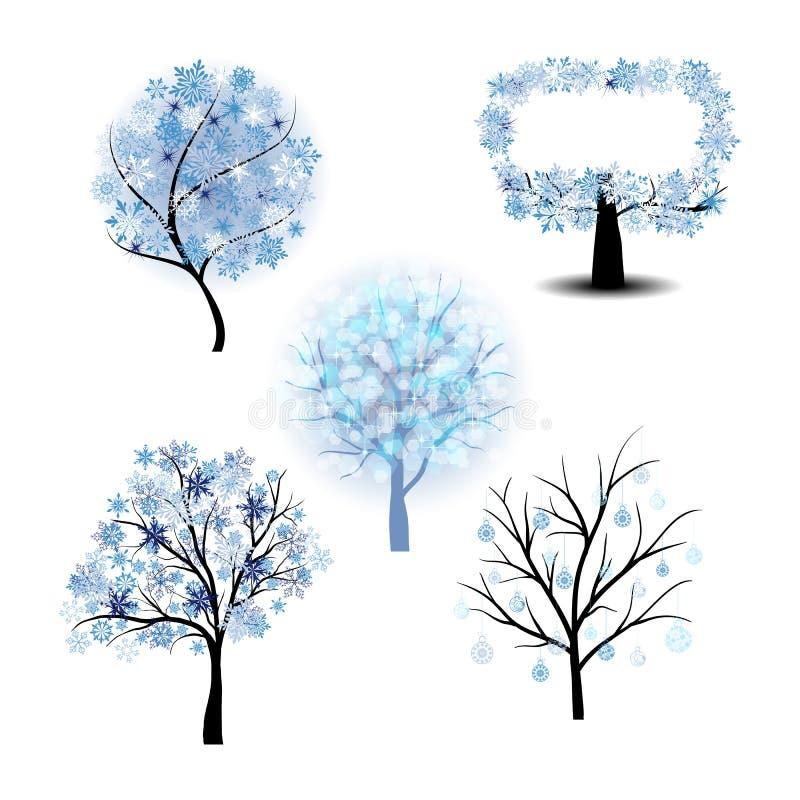 Wiinter结构树集 库存例证