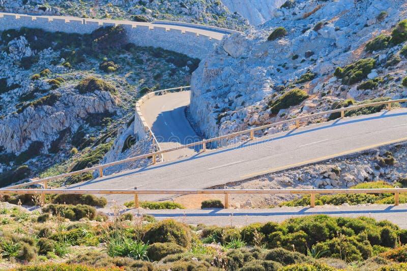 Wijąca droga od nakrętki De Formentor obraz royalty free