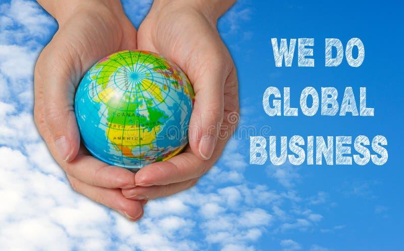 Wij doen Globaal Zaken Concept stock afbeeldingen