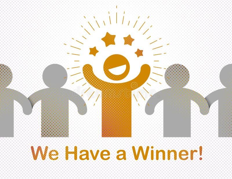 Wij hebben een winnaar vectorconcept leiding, overwinning en succes royalty-vrije illustratie