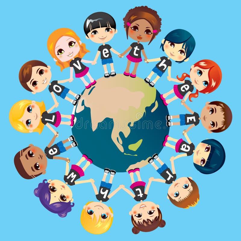 Wij houden van de Aarde vector illustratie