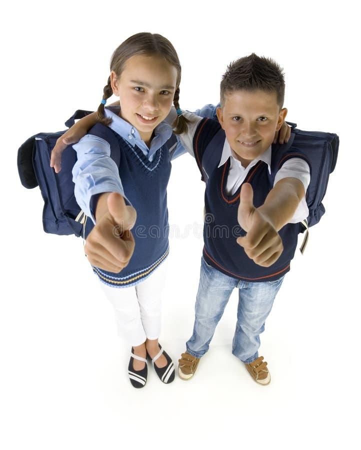 Wij houden van school! stock afbeelding