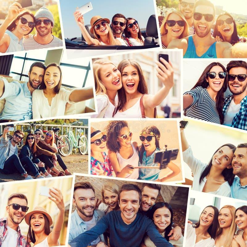 Wij houden van selfie! royalty-vrije stock afbeelding