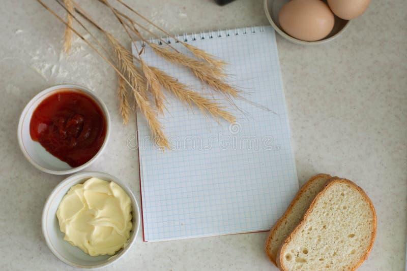 Wij koken een groot ontbijt stock afbeeldingen