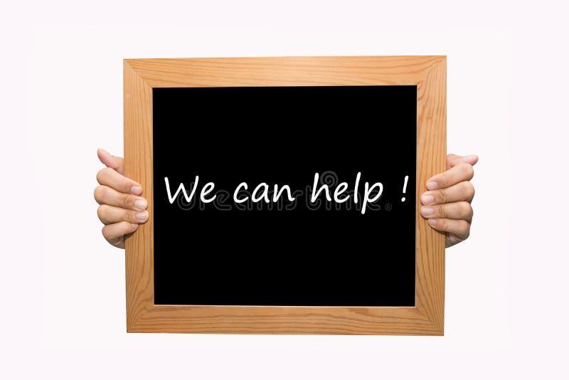 Download Wij kunnen helpen! stock foto. Afbeelding bestaande uit mededeling - 39114506