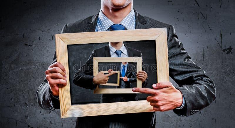 Wij onderwijzen u juiste zaken Gemengde media royalty-vrije stock afbeelding