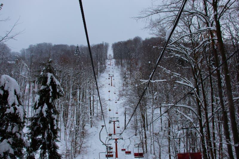 Wij ski?en in winterrr royalty-vrije stock afbeeldingen