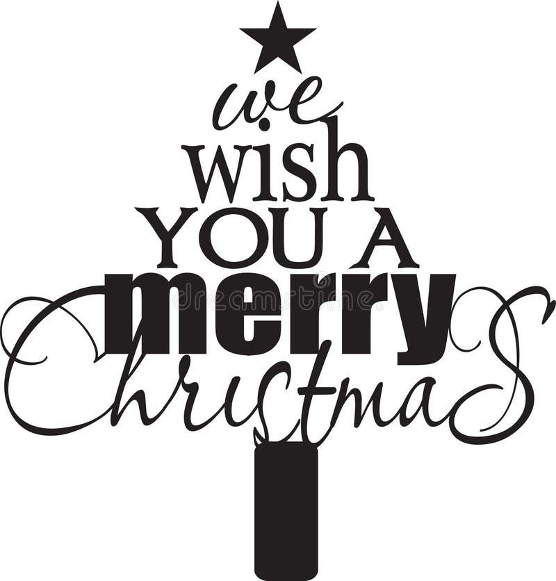 Wij wensen u Vrolijke Kerstmis royalty-vrije illustratie
