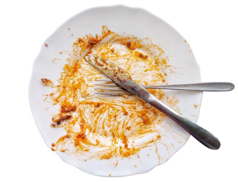 Wij worden gedaan met maaltijd het eten royalty-vrije stock foto