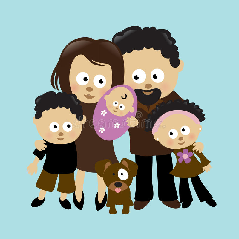Wij zijn Familie 2 stock illustratie
