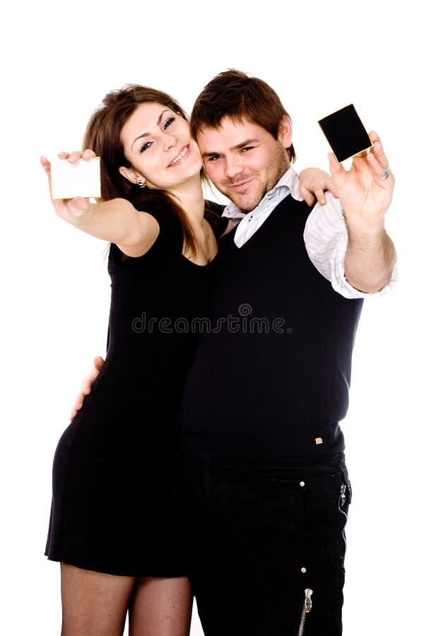 Wij zijn gelukkig stock foto
