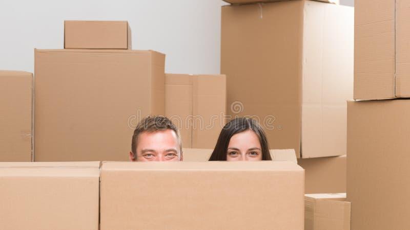Wij zijn opgewekt over het bewegen van huis royalty-vrije stock foto's