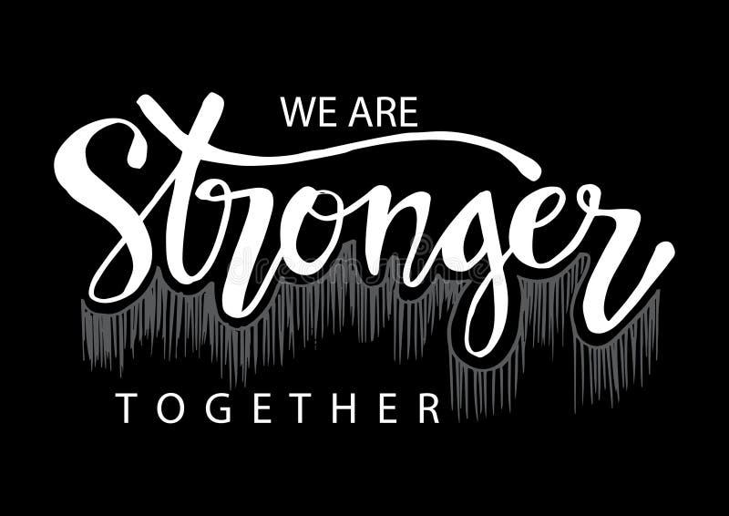 Wij zijn samen sterker stock illustratie
