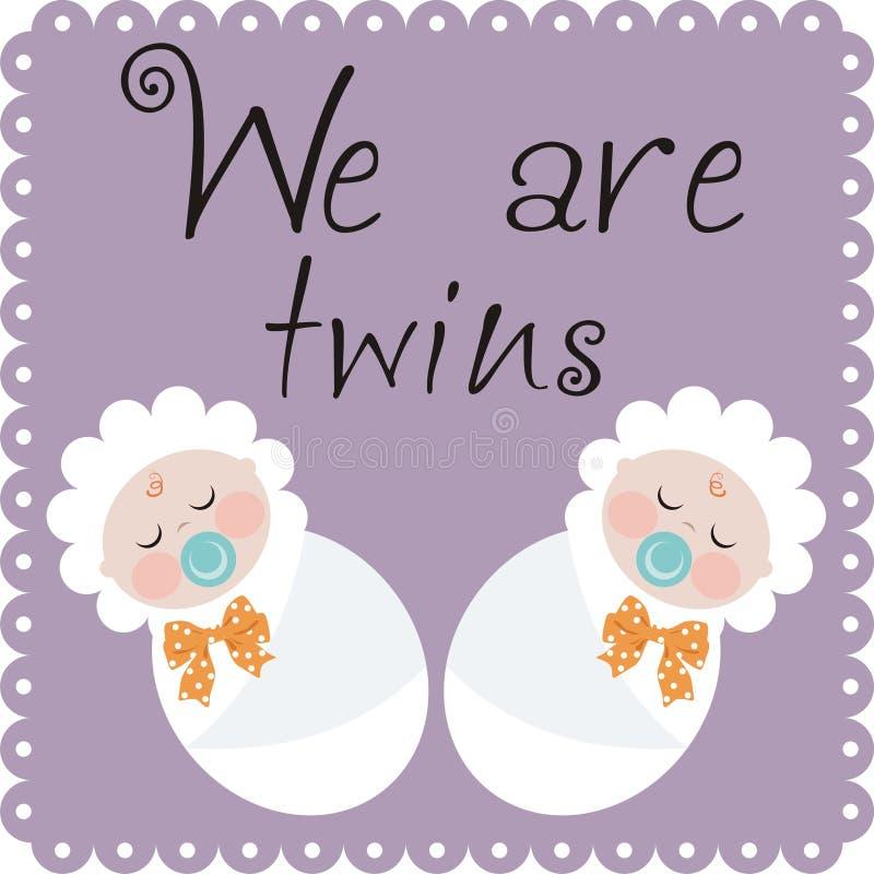 Wij zijn tweelingen vector illustratie