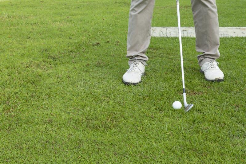 Wijd golfcursus in zeer aardige dag in de zomer stock afbeelding