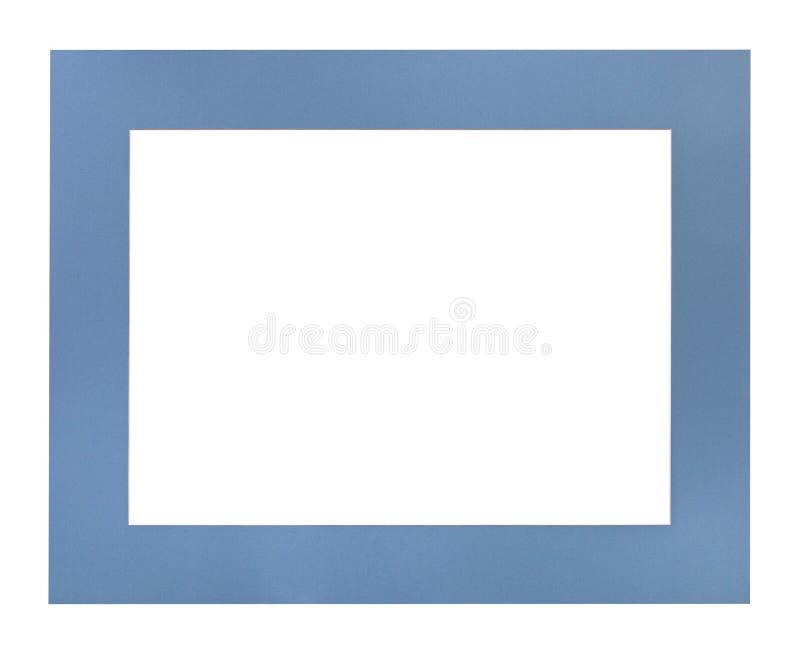 Wijd vlak blauwe passe-partout voor omlijsting royalty-vrije stock afbeeldingen