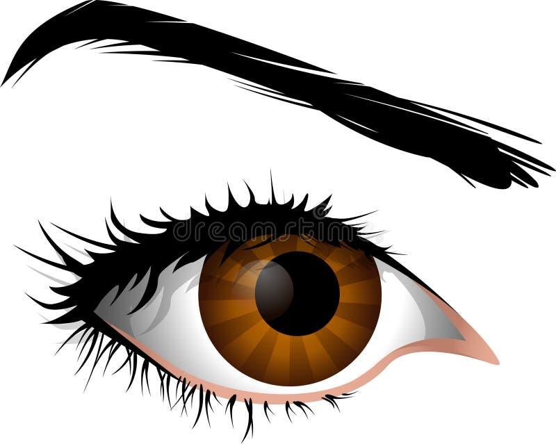 Wijfje dat oog is stock illustratie
