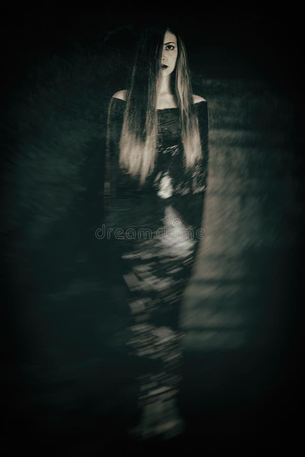 Wijfje in folie - harde depressie royalty-vrije stock foto