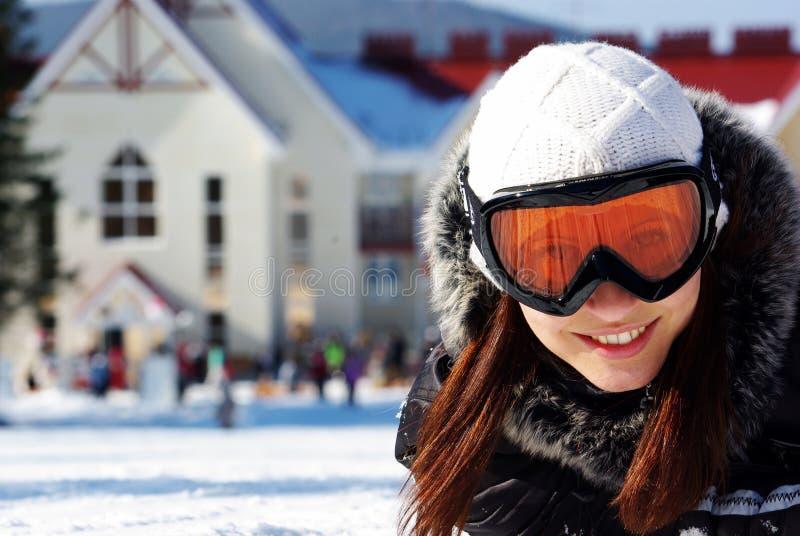 Wijfje snowboarder royalty-vrije stock afbeelding